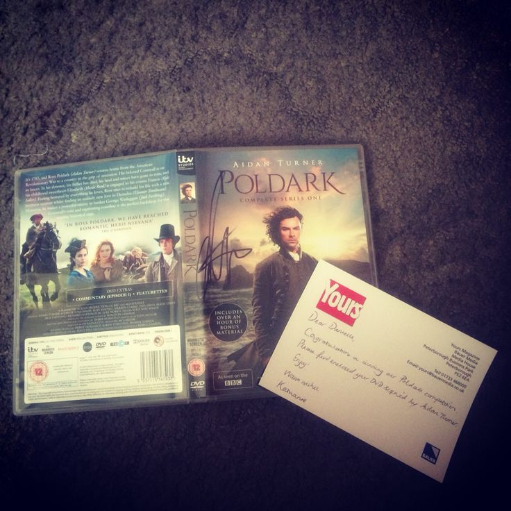 I won a competition for a Poldark DVD signed by Aidan Turner... It arrived this morning...