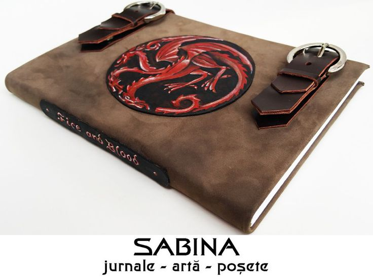 REZERVAT - Jurnal Game of Thrones (Targaryen logo), Jurnal cu coperta din piele