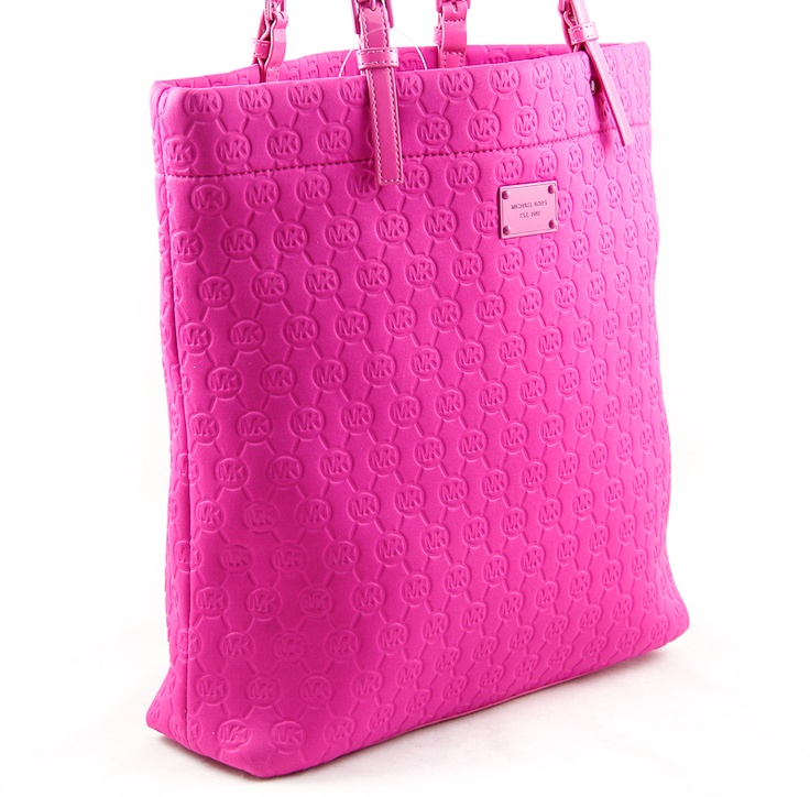 Michael Kors Jet Set Lacquer Pink Neoprene North South Tote Handbag Msrp 128 Dressing Your Truth Type 4 Style Pinterest