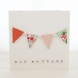DIY wedding invitation with bunting