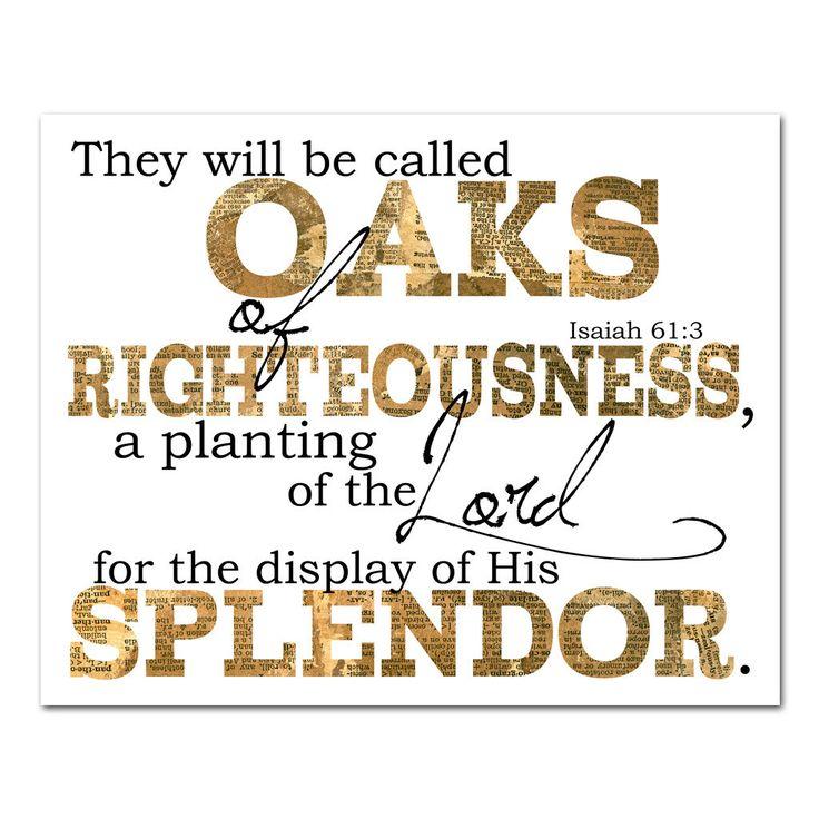 oaks of righteousness @studiojru