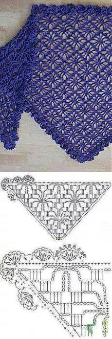 shawl graph - crochet - Chal § bello e semplice con schema  §