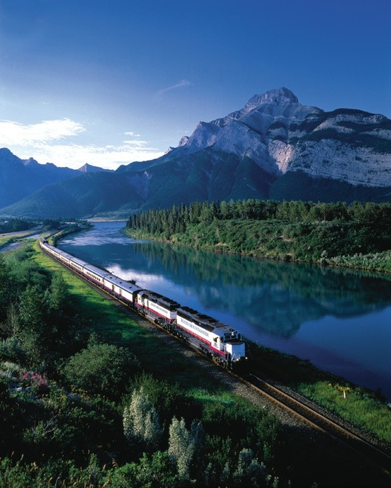 ...ride this train all the way across Canada.