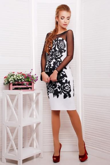 Черные розы платье Донна д/р