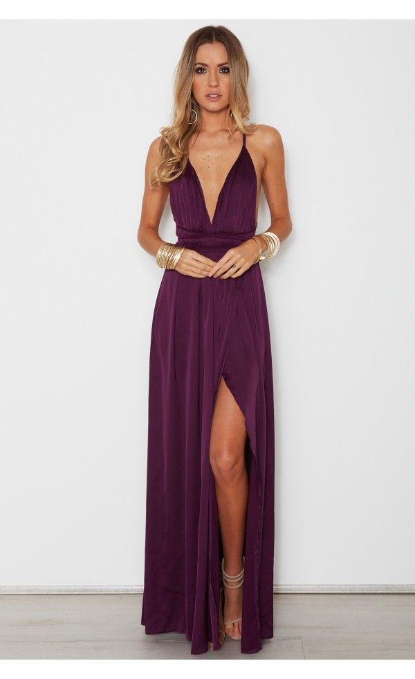 Akela Maxi Dress Plum 2