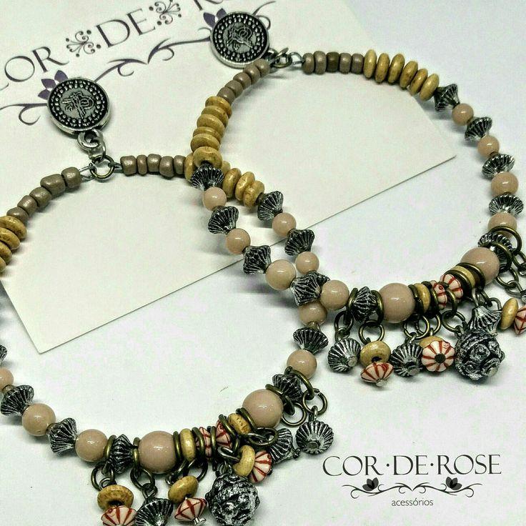 Maxi Argola 😍 #corderose #bohemianjewelry #bohostyle