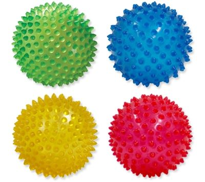 Touch- the lumps on the ball can help with sensory and how it feels.