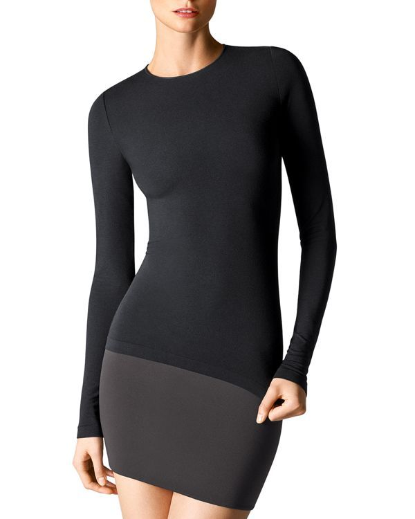 Wolford Crewneck Long Sleeve Pullover | Modal/nylon/elastane | Machine wash | Imported | Crewneck, long sleeves, seamless construction, ultra-soft fabric | Web ID:1750958