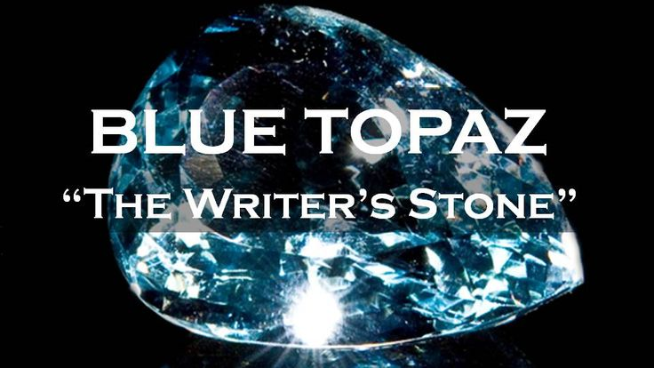 Blue Topaz Meaning: Topaz is the birthstone of December, and has become a symbol of love and affection.  It also can help with writer's block.