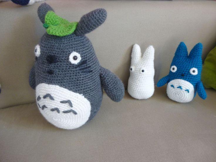 famille Totoro réalisé au crochet pour Lily