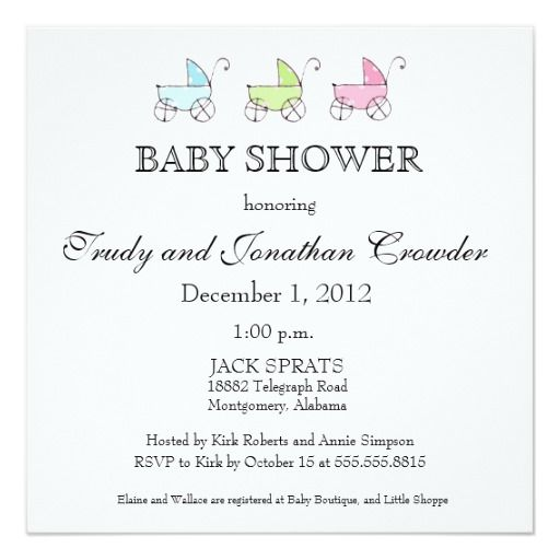 256 best triplets baby invitations images on pinterest triplets its triplets baby shower card filmwisefo Choice Image