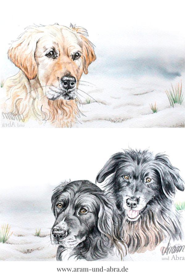 #Hund malen lassen | Aquarell | Portrait | Zeichnen | Ideen | Tipps | Anleitung | kreativ | Kunst | Tierportrait | Hunde | Goldie | Golden Retriever | Hundeblog | Aram und Abra | www.aram-und-abra.de