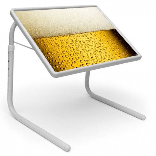 Beer Glass Table Mate Designer Portable Adjustable Dinner Cum Laptop Tray Table 122