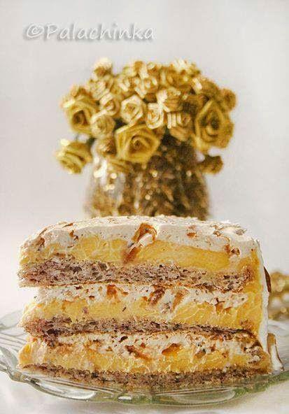 Mogyorós, karamellás  Egyiptomi torta   Tészta    3 lapra van szükségünk, mindegyik, a következő hozzávalókból készül:  2 db tojásfehérje...