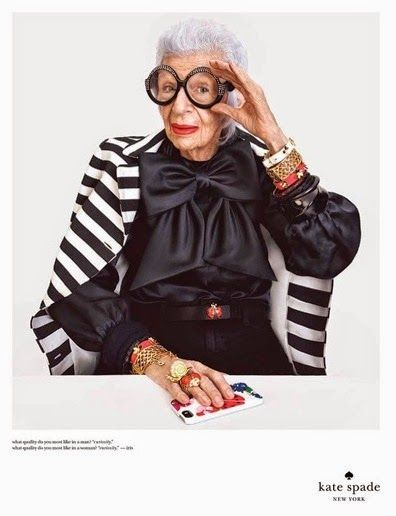 That's Not My Age: Mature Models: Iris Apfel for Kate Spade