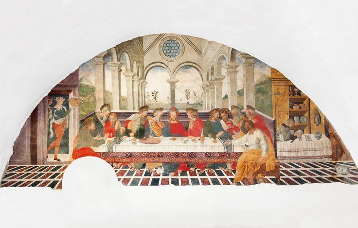 Affresco della scuola degli Sparapane da Norcia (prima metà del XVI sec.) Ultima cena, Norcia, Refettorio dell' ex Convento dell' Annunziata