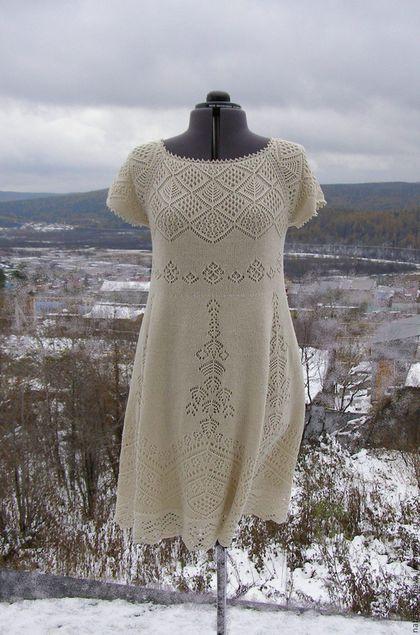 """Платья ручной работы. Ярмарка Мастеров - ручная работа. Купить """"Сны о лете"""" платье из буретного шелка. Handmade. Белый, Шетланд"""