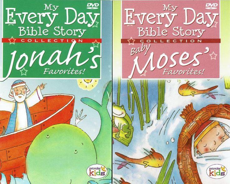 Children's Bible Story 2 DVD Set Moses Jonah Whale Old Testament 10 Commandment #WonderKids