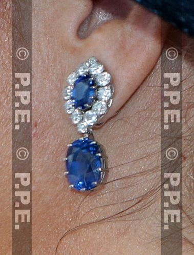 Princess Maxima of the Netherland's sapphires