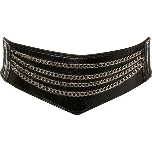 80s Multi Chain Belt (7.675 HUF) ❤ liked on Polyvore featuring accessories, belts, cintos, black, paski, going out, women's clothing, chain belt, black chain belt and miss selfridge