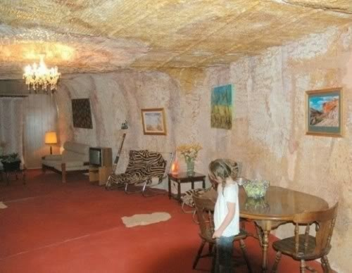 Underground Coober Pedy home - been in one of these