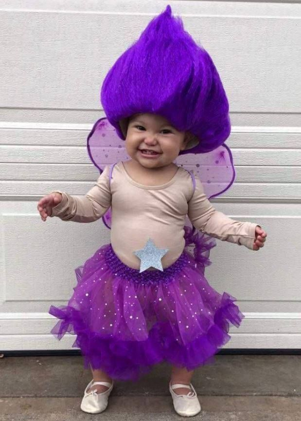 diy troll doll halloween costume for kids crafty morning - Halloween Costume Ideas 2017 Kids