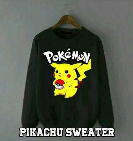 sweater pikachu bahan babbyterry 55000