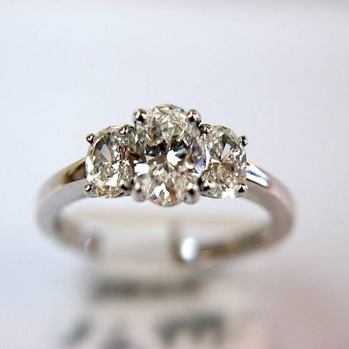 Now this is perfection!!!!! Three Stone Oval Diamond Ring