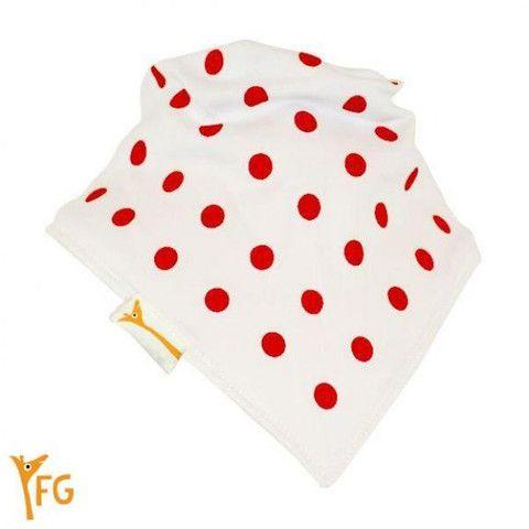 Baby Bandana Bib - White & Red Spots – Baby Luno