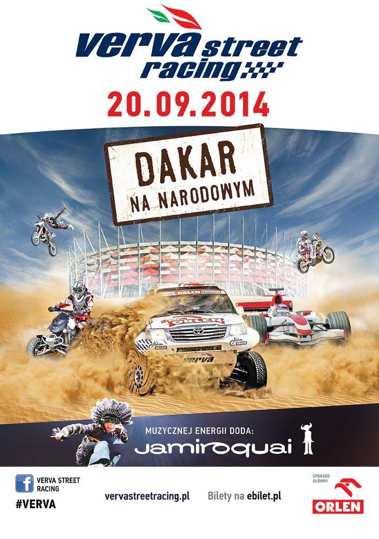 #Jamiroquai na żywo podczas #VERVA Street Racing – Dakar na Narodowym!  #vervastreetracing2014 #stadionnarodowy #rajddakar #warszawa #malysz #gronholm #przygonski #dabrowski #coma #rodrigues #ktm #bitwamistrzow #polskavsresztaswiata #pitparty