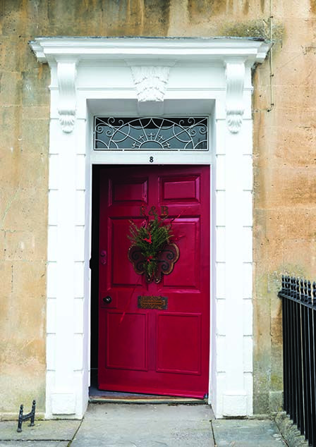 Outrageously Brilliant Front door in Rectory Red by Farrow & Ball