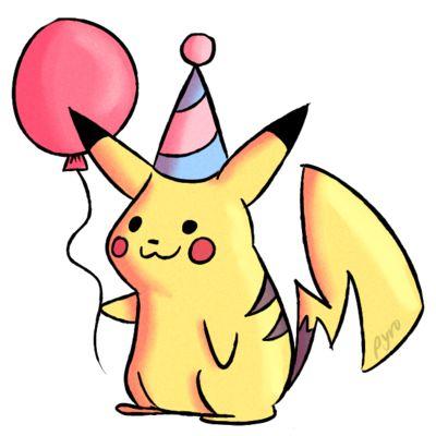 Pikachu Birthday Card