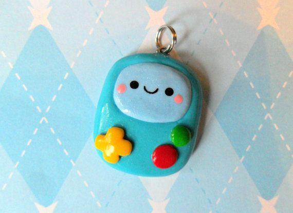 Kawaii Chibi BMO Adventure Time Charm. $6.00, via Etsy.