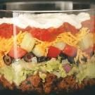 Layered Mexican taco salad