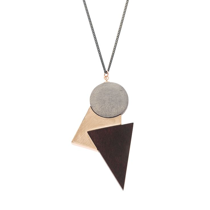 Buy the Ellice Metal Inlay Geo Shape Necklace at Oliver Bonas. Enjoy free worldwide standard delivery for orders over £50.
