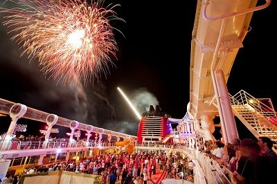 See the only fireworks display at sea aboard a Disney Cruise! #TMOM #travel #familytravel