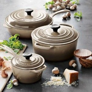 Le Creuset In Dune I Have All Kiwi Collection Hoping My Daughter Will Pick This Color For Hers Beautiful Food Photography Pinterest Cookware