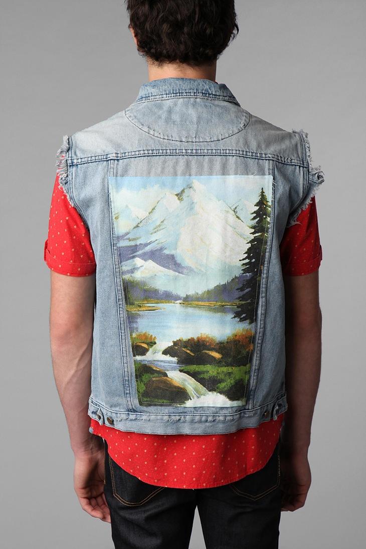 Toddland Marshall Painted Denim Vest