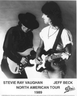 Stevie Ray Vaughn and Jeff Beck Tour 1989