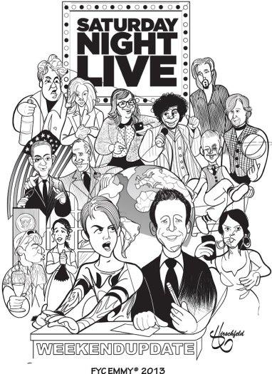 SNL Lithograph FYC Emmys 2013 by Matthew Hirschfeld.