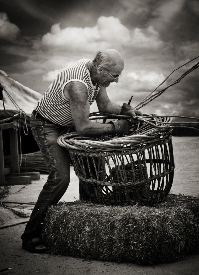 "Basket Weaving ~ (""The Craftsman"" by Audran Gosling, via 500px.)"