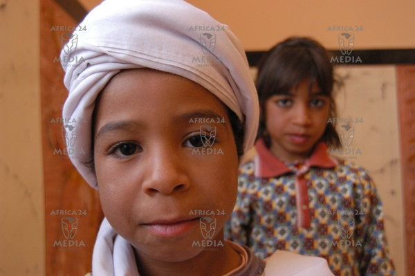 A child in the traditional dress common in the region of Adrar.