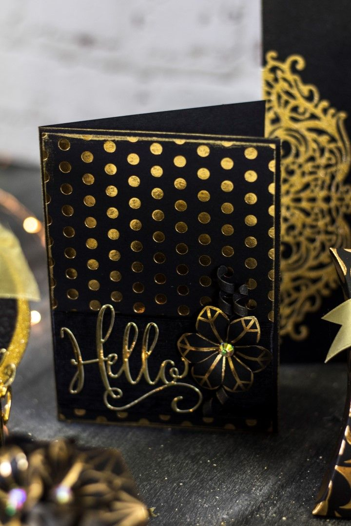 Crafter's Companion Sara Davies Signature Black & Gold Metal Hello에 대한 이미지 검색결과