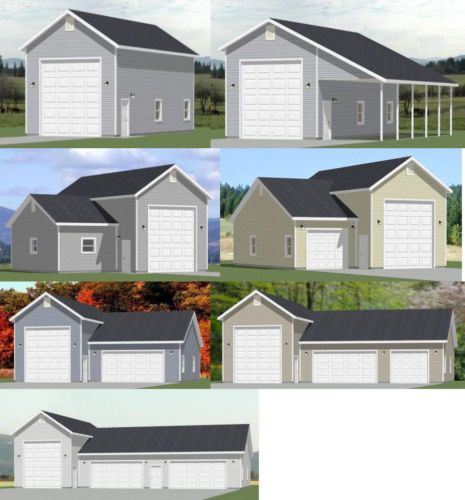 1 1 2 Story Two Car Garage With Loft Storage: 1-RV + 1, 2, 3, 4-Car Garages -- PDF Floor Plans