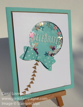 Celebrate! Balloon Shaker Card May Card Class Jen Arkfeld Video Stampin' Up! Card Idea