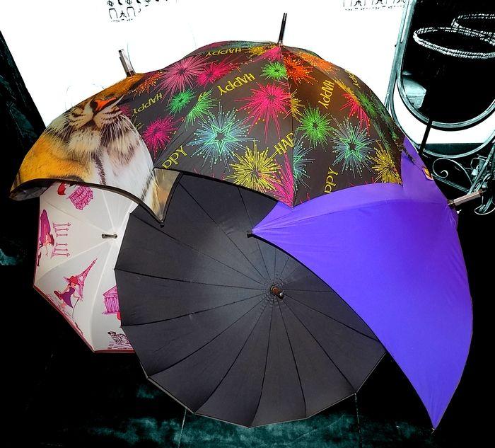 Sortez vos parapluies !  Un large choix de parapluies pour les grands et les petits.