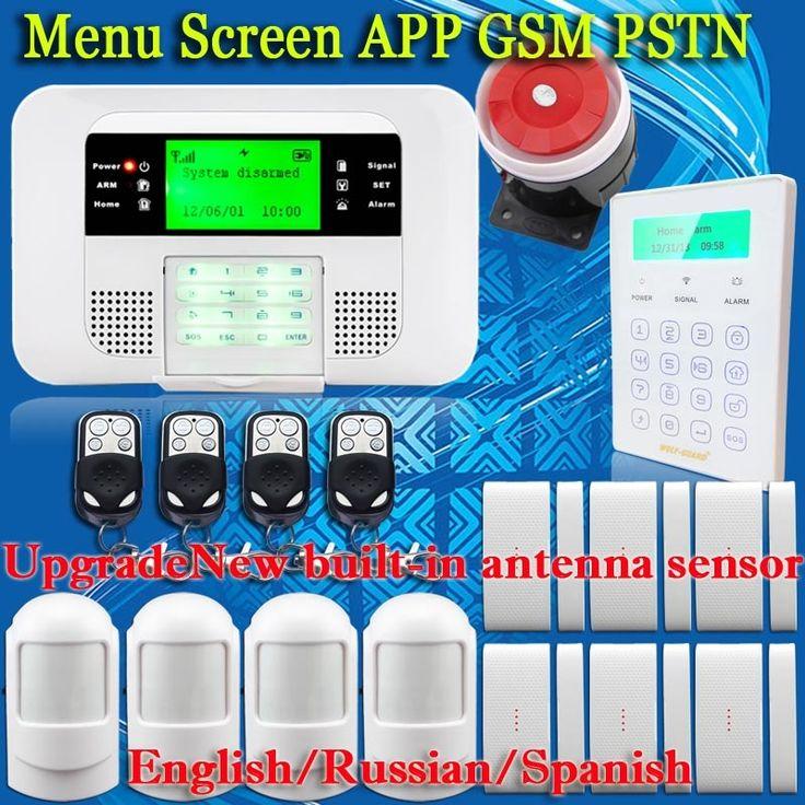 (112.70$)  Watch now  - Free Shipping!PSTN GSM Alarm System Home Alarm systems&security for Home Security Motion Sensor+Wireless Touch Password Keypad