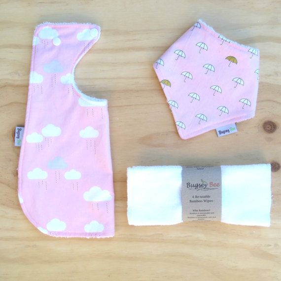 Baby Gift Set // Blue Clouds // Baby shower Gift Farm by BugseyBee