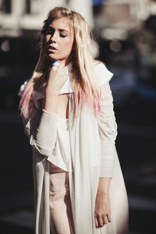 Capelet and Top by Samantha Aravopoulos, Styling by Harmony Hearsey