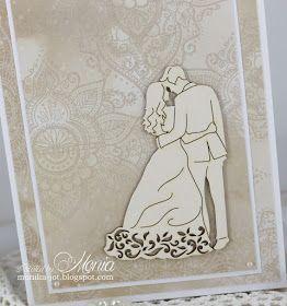 Witajcie. Na blogach coraz więcej świątecznych kartek, ale ja dzisiaj, dla odmiany, pokażę Wam kartkę ślubną z produktami Agaterii. Wy...